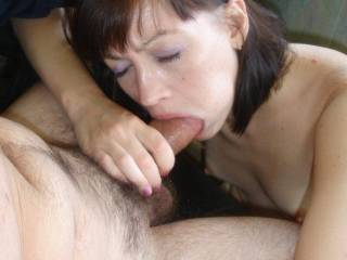 looks like she gives a GREAT blowjob!