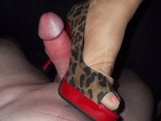 MMMM SEXY HEELS & A BIG THICK COCK.  CUB LOVES THAT COMBINATION AND SO DO I