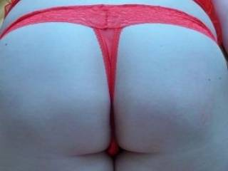 My ass in a red thong. What does this do you?