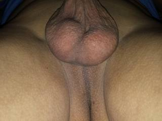 Showing my smooth,full balls