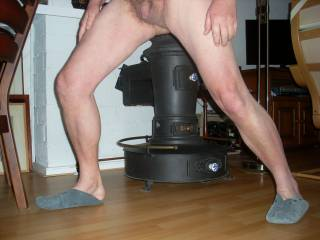 showing legs and calves and dick and balls