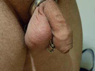 Wearing my cock ring