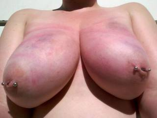 tits after a light beating