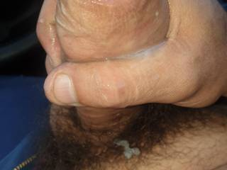 Cum in the car while driving