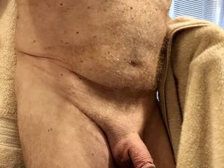 Right out of the shower. Dick swollen from masturbating.