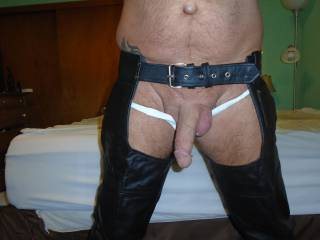 """""""NEW Black Leather Chaps"""""""