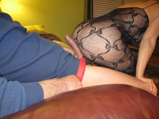 Oh wow! I bet you did, and I bet he shot a lovely big load over your sexy nylon ass too....I know I would have done.