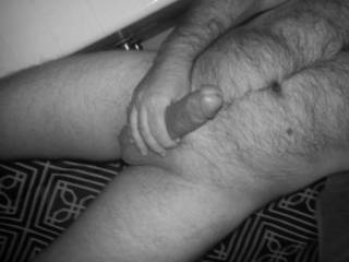 My hairy body and cock.