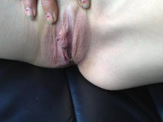 A new friend. God, how I love those skinny girls with perky little boobs! We went somewhere private in the car and she gave me a nice BJ. I stroked it to completion and jizzed all over her pussy. Sorry I didn\'t get a pics of that.