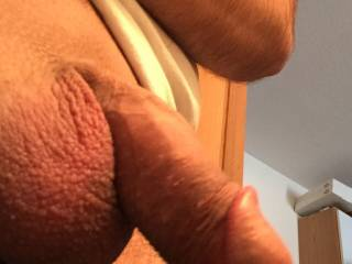 Freshly shaved balls 😊 Yes I\'m a grower not a shower
