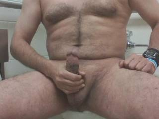 Mmmmm  would you lick my balls  while I  slide my hard up and down my shaft  ?