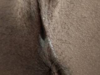 My tight holes on display.