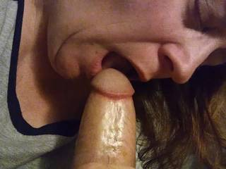 I want to suck your thick cock until you cum all over my face. Making my man feel good is sexy as fuck. Besides, it feels so damn good when he finally cums all over your face. Check out my video of me enjoying this cock.