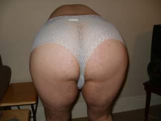 bent over in lacy panties