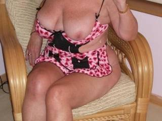 I'm not sure you have the new outfit on correctly, shouldn't both of your maginifcent tits be on view? However, I would be very happy if you will accept my invitation to model this outfit for me and my friends whenever you have an afternoon (or a fortnight) to spare ;-)  XXX