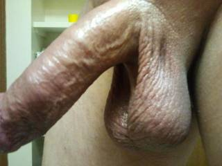 Want to play with my oiled up cock and balls?
