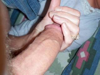 i love playing with his cock im getting him hard again