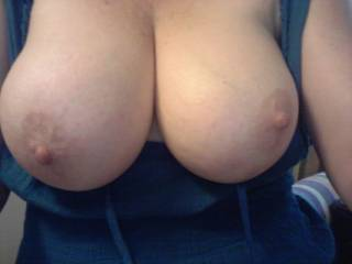 What dress?I love your huge tits and big,amazing nipples! I wanna squeeze em,kiss em,lick em,nibble em,suck em,fuck em and cum all over your big beauties! May I?