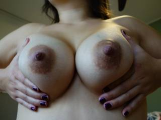 You render me nearly speechless with your divineness.  I so love dark areola & huge nipples.  I've just discovered my nipple nirvana!