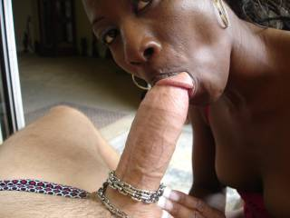wow what a mouth full for a sexy lady, love the chain play also