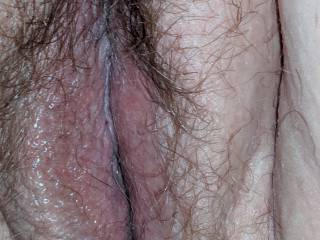 Just my hairy pussy