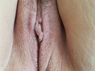 Wife\'s pussy fresh from the shower and shave job.