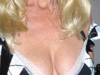 a little cleavage for me to shoot a pearl necklace of cum onto.