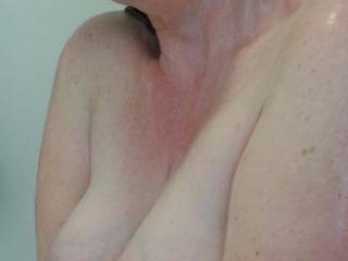 Milk filled tits, squeezed together for you in the shower?  Anyone for a tittyfuck?