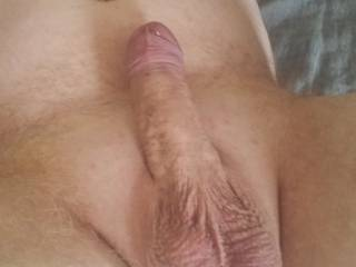 My dick hard with shin pulled back
