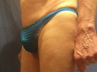 A closer view of my blue undies and their contents.