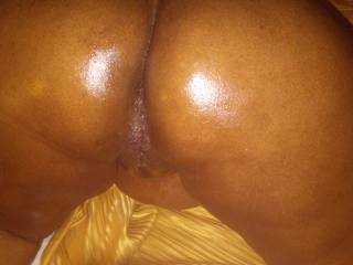 All oiled up, so who\'s man enough to stand up in it