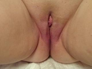 I decided to take a series of pictures of Mrs. Truck\'s Pussy to show how her clit gets progressively more swollen as I suck on it and play with it. This is picture 1 as we begin. We are looking for other local couples to play with and others to share with