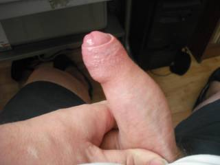Playing with my prick while watching a hot and horny porn film on the comp