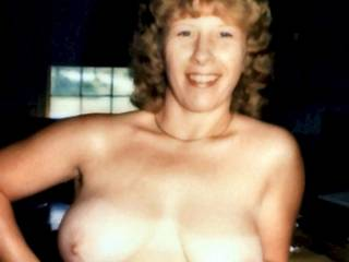 Her Beauties are JUST RIGHT!! Lovely nipples, and a terrific smile!!