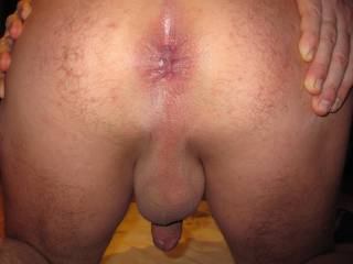My tongue first and then my cock.