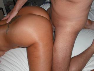 I love it when he fucks me hard from the rear with his lovely smooth thick cock.