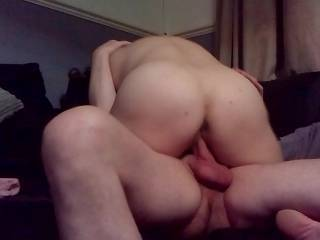 mmm love her ass , watching her swallow that cock , she sure likes to ride