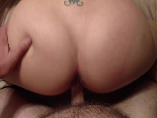 just watch him cum balls deep inside me then drip out!!