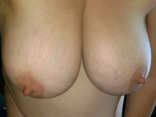 took some pictures of her tits before fucking her