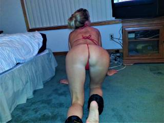 Wife doing her exercises