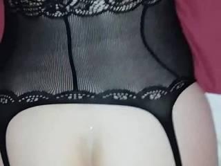 A little cum on the bum