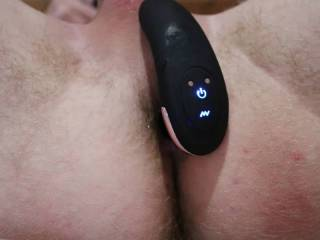 I lay in my bed and insert my vibrator in my ass. It feels like heaven when the vibration starts and i cant hold back my orgasm after a few minutes.