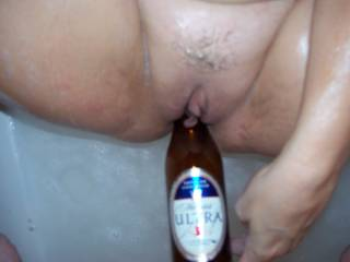 I've never wanted to be a beer bottle so much as I do right now! I taste great, but I don't know about the less filling.