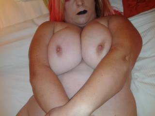 i'd love to play with your sweet tits and drop a big load on them