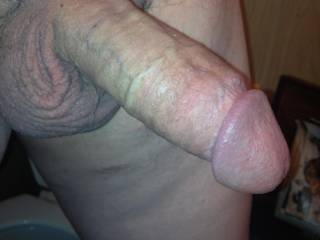 Now that is a cock I like..it fills a pussy or mouth nicely.  Great I can suck one like that with passion.  Does it produce a nice load of cum?  MILF K