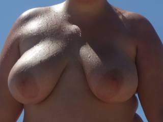 love a nudist beach! the sun on my naked skin makes me super horny!