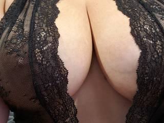 Curious to know what y\'all think about my tits in this outfit? Dirty comments make my pussy wet. Talk dirty to me and I might just show you how wet I get