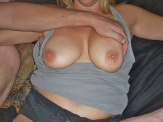 has anyone downriver seen sucked and played with my wifes tits...
