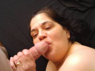 My wife from earlier today giving oral pleasure to a friend of hers