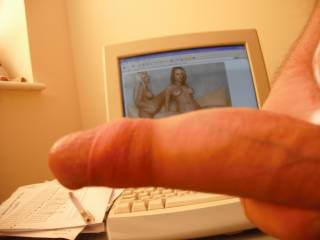 I hope all you horny guys and ladies out there enjoy seeing my aroused prick as much as I enjoy showing it to you